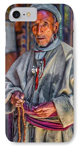 Tibetan Refugee - Paint IPhone Case by Steve Harrington