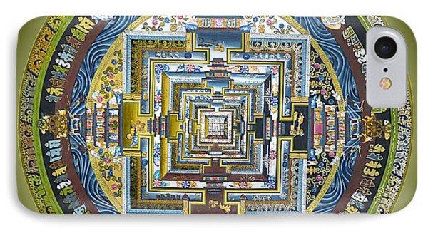Tibetan Mandala Green IPhone Case by Birgit Moldenhauer