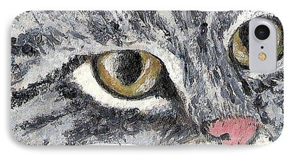 Tiger Cat Phone Case by Reina Resto