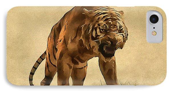 Tiger IPhone Case by Sergey Lukashin