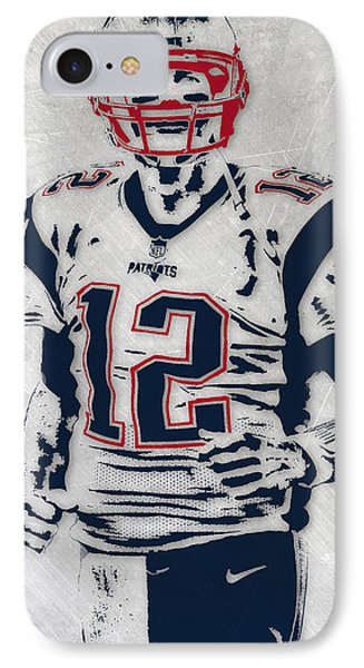 Tom Brady New England Patriots Pixel Art 5 IPhone Case