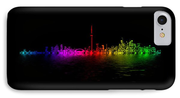 IPhone Case featuring the photograph Toronto Rainbow Reflection by Brian Carson