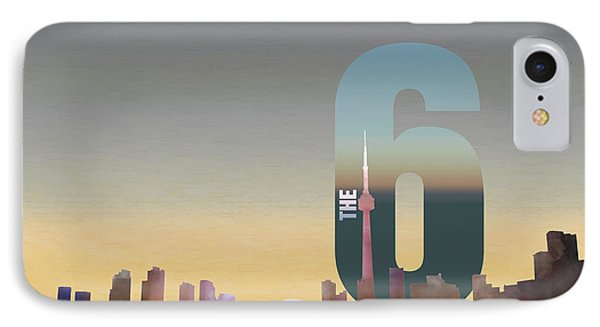 Toronto Skyline - The Six Phone Case by Serge Averbukh