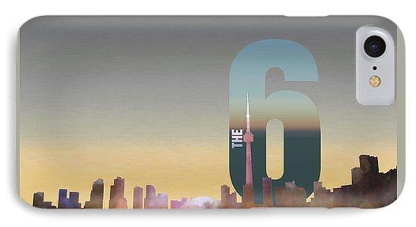 Toronto Skyline - The Six Phone Case by Serge Averbukh