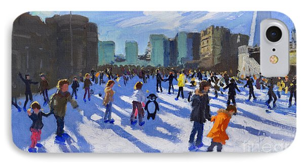 Tower Of London iPhone 7 Case - Tower Of London Ice Rink by Andrew Macara
