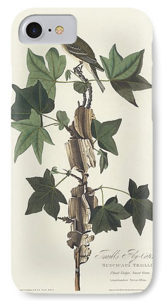 Traill's Flycatcher IPhone 7 Case by John James Audubon