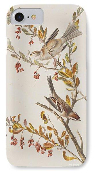 Tree Sparrow IPhone 7 Case by John James Audubon