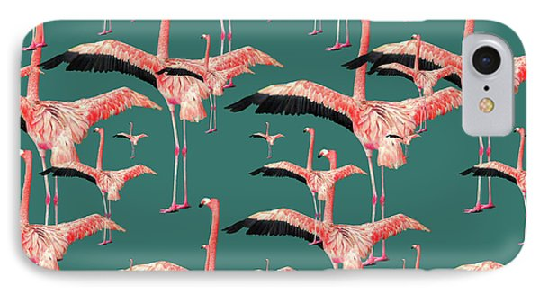 Tropical Flamingo  IPhone Case by Mark Ashkenazi