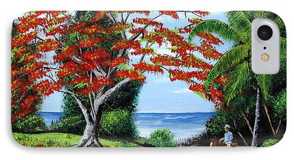 Tropical Landscape IPhone Case by Luis F Rodriguez