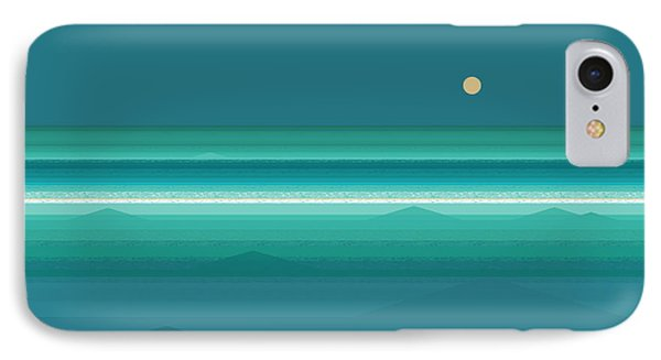 IPhone Case featuring the digital art Tropical Sea Moonrise by Val Arie