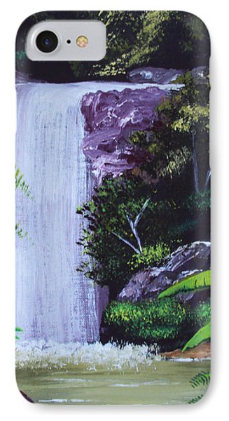 Tropical Waterfall IPhone Case by Luis F Rodriguez