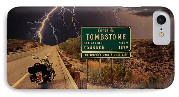 Trouble In Tombstone IPhone Case by Gary Baird