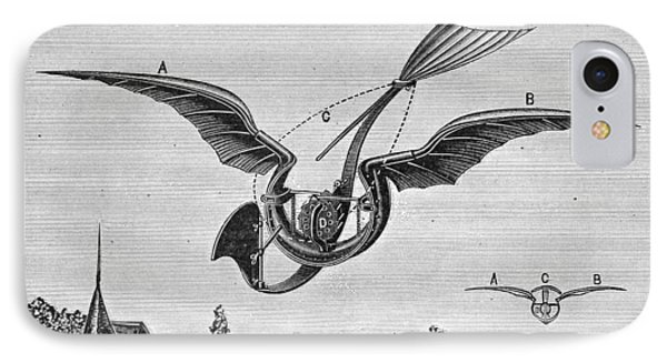 Trouv�s Ornithopter Phone Case by Granger