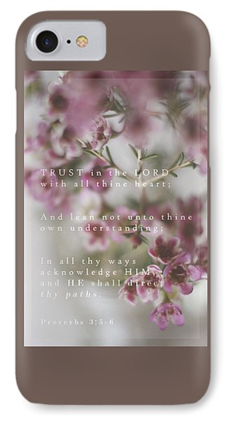 Trust In The Lord IPhone Case by Inspired Arts