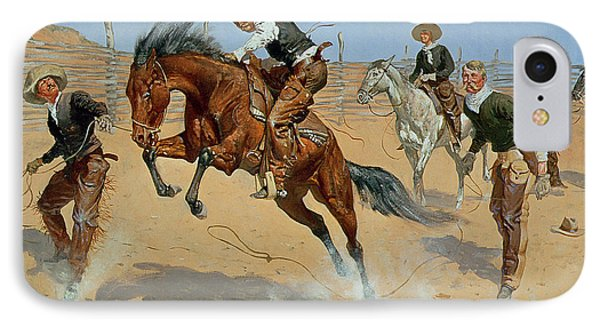 Turn Him Loose Phone Case by Frederic Remington