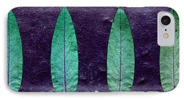 Turquoise Leaf IPhone Case by Sumit Mehndiratta