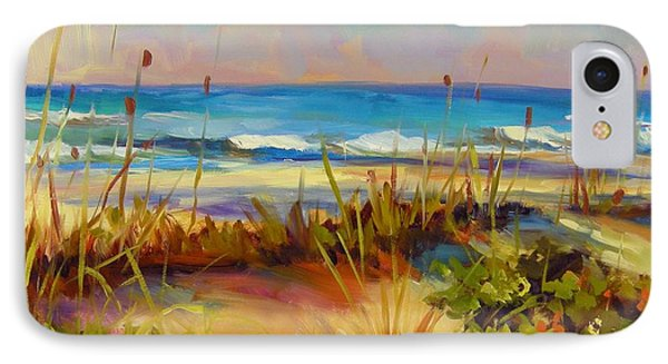 IPhone Case featuring the painting Turquoise Tide by Chris Brandley