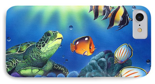 Turtle Dreams IPhone 7 Case by Angie Hamlin
