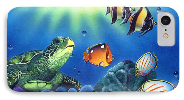 Turtle Dreams IPhone Case by Angie Hamlin