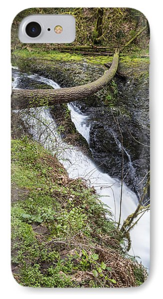 Twin Falls In Silver Falls State Park IPhone Case by John McGraw