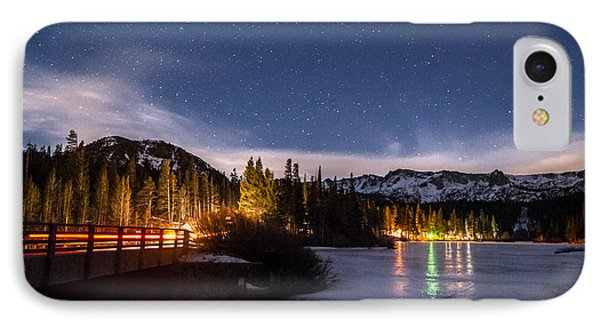 Twin Lakes At Night IPhone Case by Cat Connor