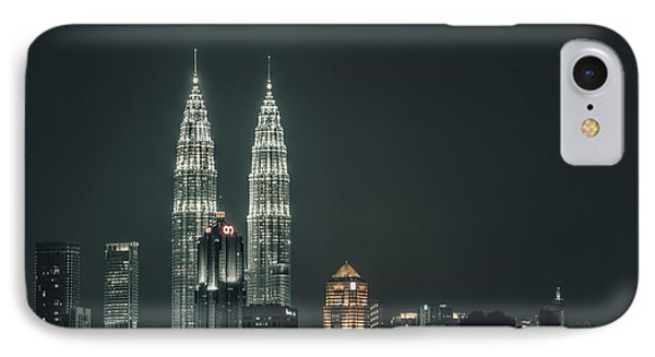 IPhone Case featuring the photograph Twin Towers by Charuhas Images