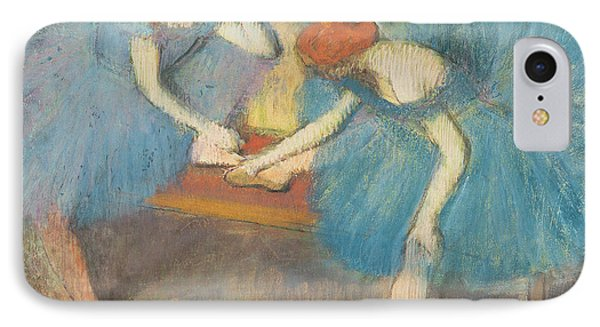 Two Dancers At Rest Phone Case by Edgar Degas