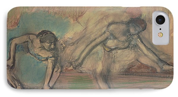 Two Dancers Resting IPhone Case by Edgar Degas