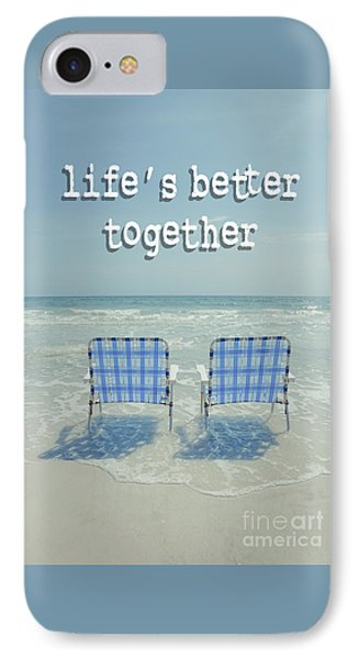 Two Empty Beach Chairs IPhone Case by Edward Fielding