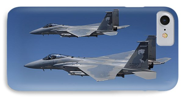 Two F-15 Eagles Conduct Air-to-air Phone Case by HIGH-G Productions