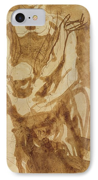 Two Figures IPhone Case by Auguste Rodin