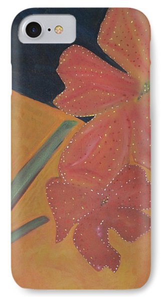 Two Flowers IPhone Case by Patricia Cleasby