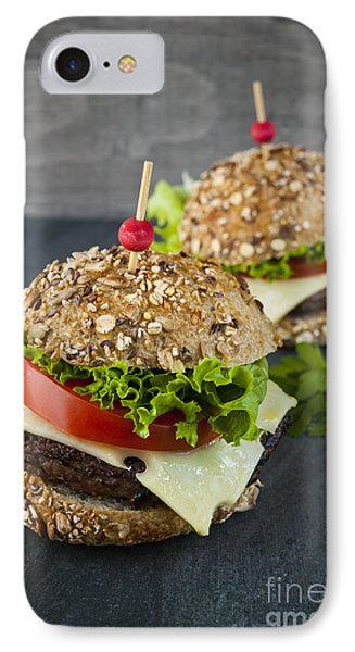 Two Gourmet Hamburgers IPhone 7 Case by Elena Elisseeva