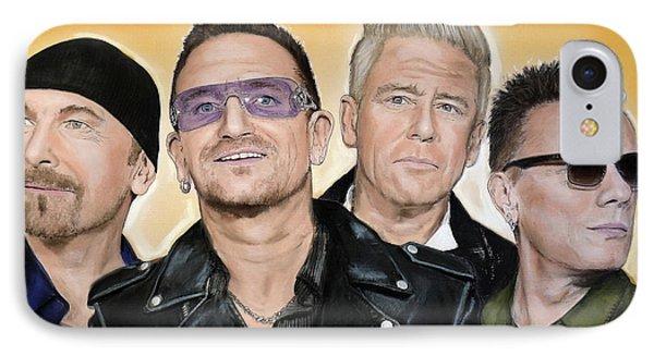 Bono iPhone 7 Case - U2 Band by Melanie D