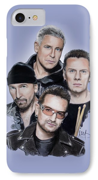 Bono iPhone 7 Case - U2 by Melanie D