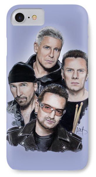 U2 IPhone 7 Case by Melanie D