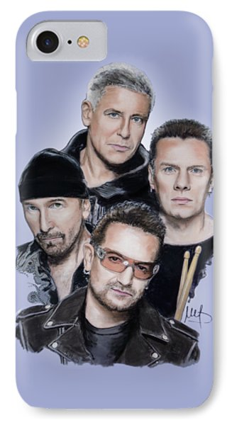 U2 IPhone Case by Melanie D