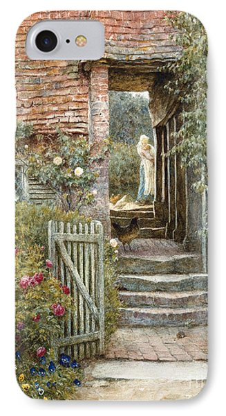 Under The Old Malthouse, Hambledon, Surrey IPhone Case by Helen Allingham