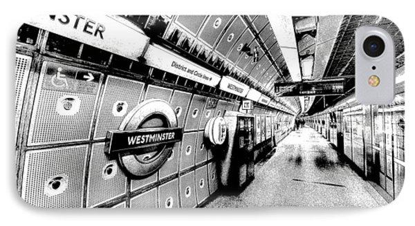 Underground London Art IPhone 7 Case by David Pyatt