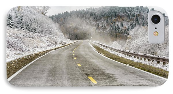 IPhone Case featuring the photograph Unexpected Autumn Snow Highland Scenic Highway by Thomas R Fletcher