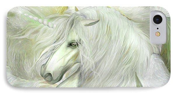 IPhone Case featuring the mixed media Unicorn Rose by Carol Cavalaris