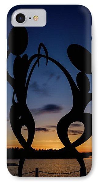 United In Celebration Sculpture At Sunset 5 IPhone Case by John McArthur