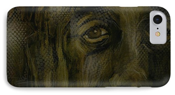 IPhone Case featuring the painting Untitled Portrait June 6 2015 by Jim Vance