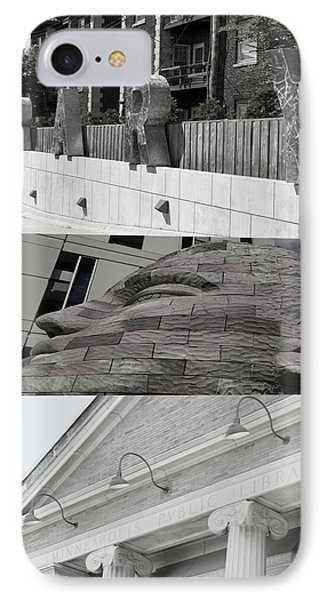IPhone Case featuring the photograph Uptown Library by Susan Stone