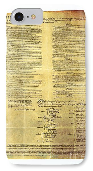 U.s Constitution IPhone Case