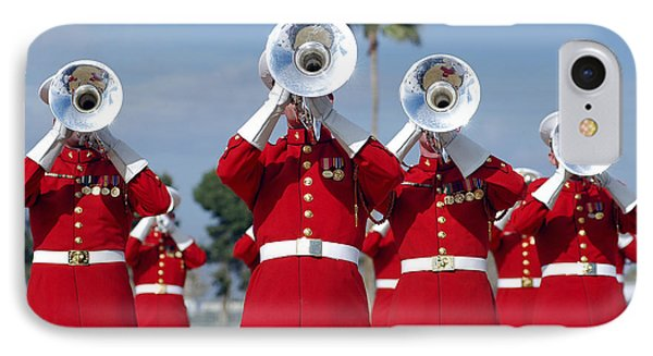 U.s. Marine Corps Drum And Bugle Corps Phone Case by Stocktrek Images