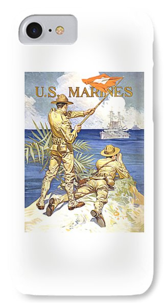 Us Marines - Ww1 IPhone Case by War Is Hell Store