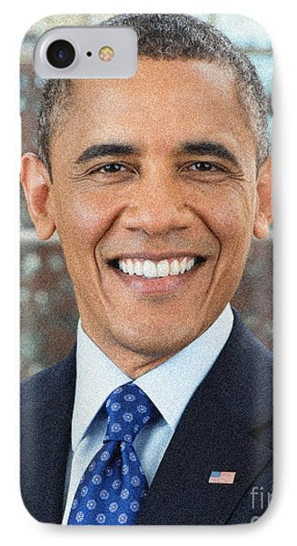 U.s. President Barack Obama IPhone Case by Celestial Images