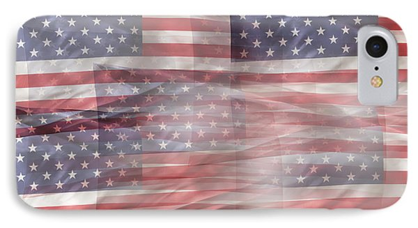 Usa Flags IPhone Case by Les Cunliffe