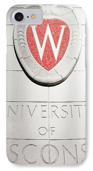 Uw Crest IPhone Case by Todd Klassy